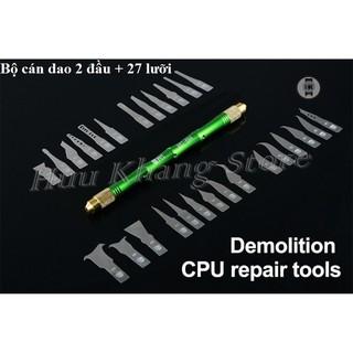 Bộ cán dao + 27 lưỡi đa năng Best   Lấy keo, làm IC, CPU