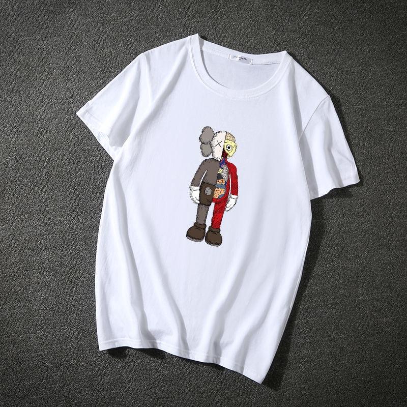 Áo thun tay ngắn cổ tròn in hoạt hình sesame street xinh xắn cho nam và nữ