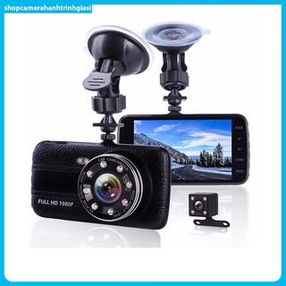 Camera Hành Trình Trước Sau Full HD Tích Hợp 8 LED Hồng Ngoại
