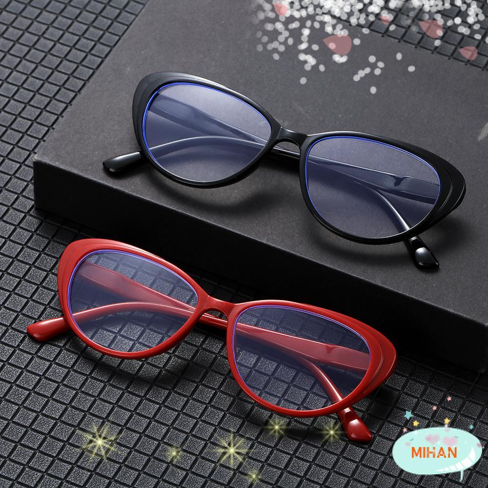 MIHAN1 Women and Men Blue Light Blocking Glasses Vision Care Goggles Computer Gaming Glasses Vintage Frame Fashion UV400 Protection Anti Eyestrain Eyewear