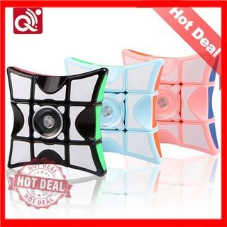 Con quay Spinner kết hợp Rubik 1x3x3 2 trong 1 Spinner Rubik giảm Stress Viền Hồng