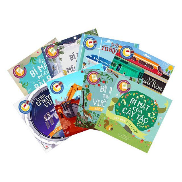 Sách -  Bật đèn soi bí mật ( Trọn bộ 8 quyển, khổ to, dành cho bé từ 3 tuổi )