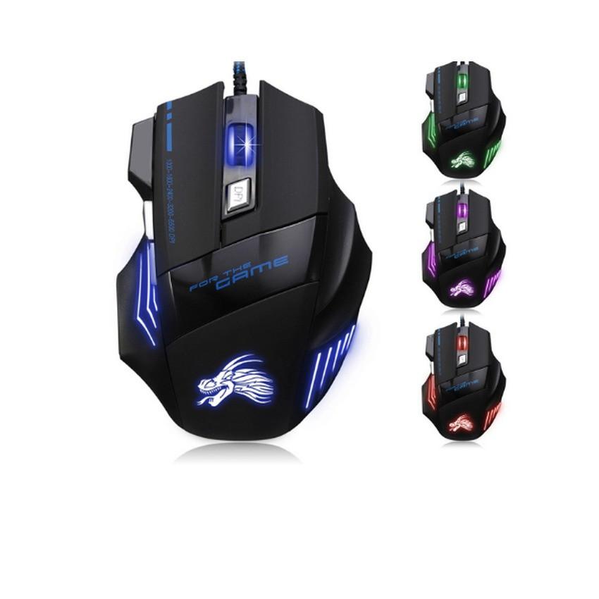 Chuột chơi game có dây Dragon X3 (Đen phối xanh)-DC1250