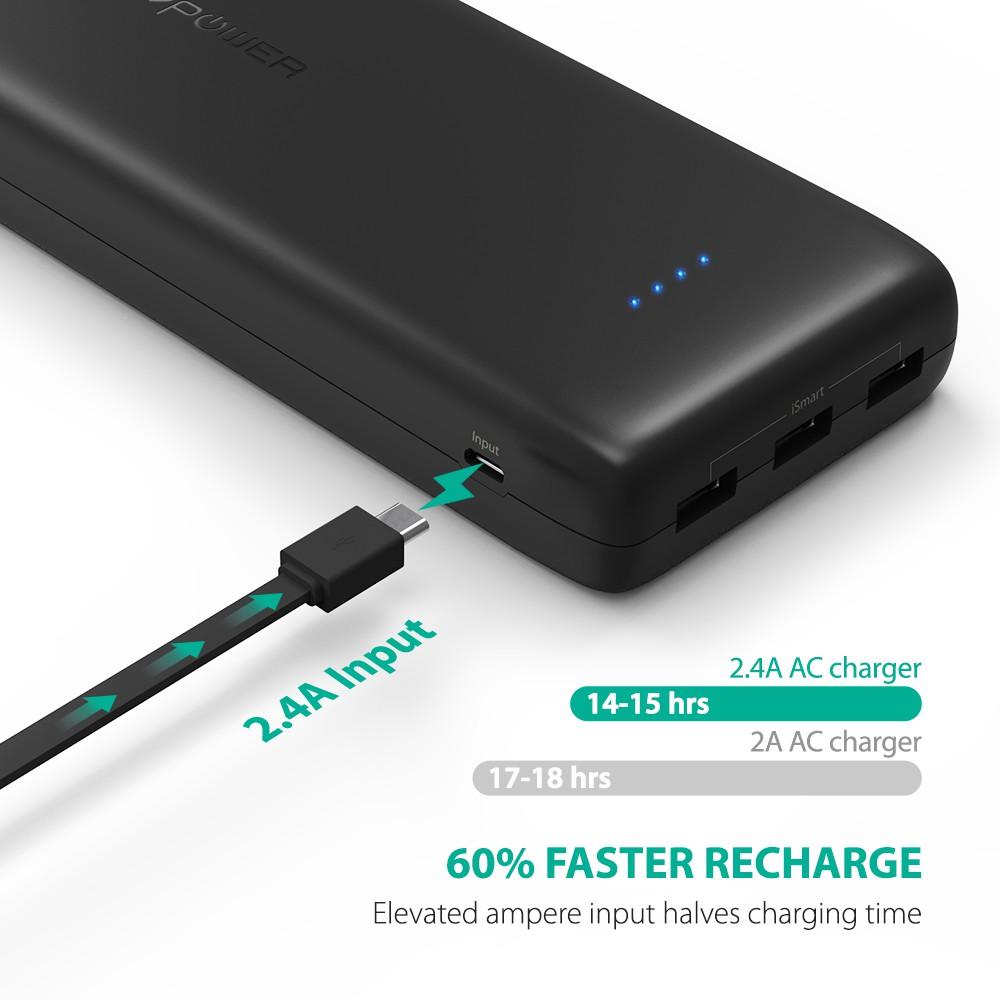 [Mã ELTECHZONE giảm 5% đơn 500K] Pin sạc dự phòng RAVPower RP-PB064 dung lượng 32.000mAh - Hãng Phân Phối Chính Thức