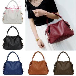 ✽FL✽Luxury Large Capacity PU Leather Women Handbag Shopping Bag Solid Shoulder Bags