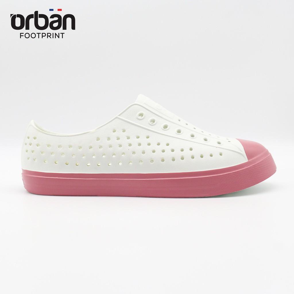Giày lỗ Urban Footpritn EVA fylon D2001 trắng hồng xinh xắn