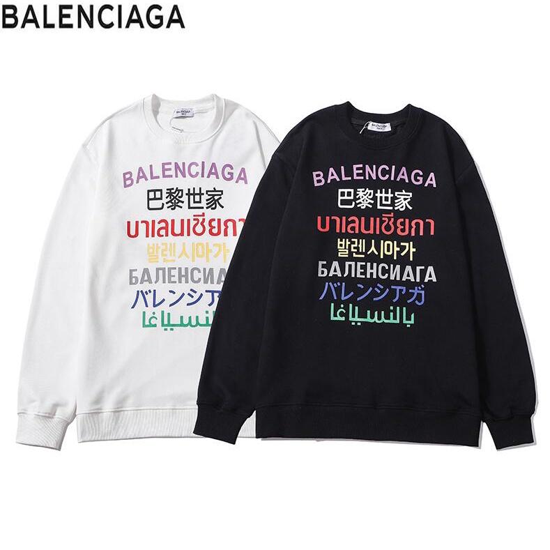 Balenciaga Áo Sweater Chất Liệu Cotton In Chữ Thời Trang Dành Cho Cả Nam Và Nữ