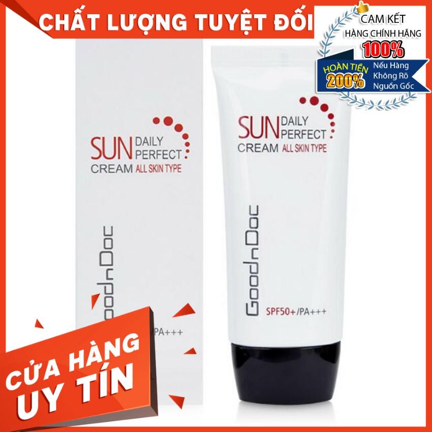 [HÀNG NHẬP KHẨU] Kem chống nắng dưỡng sáng da ngừa lão hóa 3 in 1 Goodndoc Daily Perfect Suncream SPF 50+/PA+++ 50ml