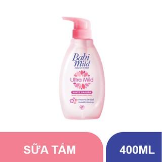 Sữa tắm trẻ em Babi Mild - White Sakura chai 400ml thumbnail