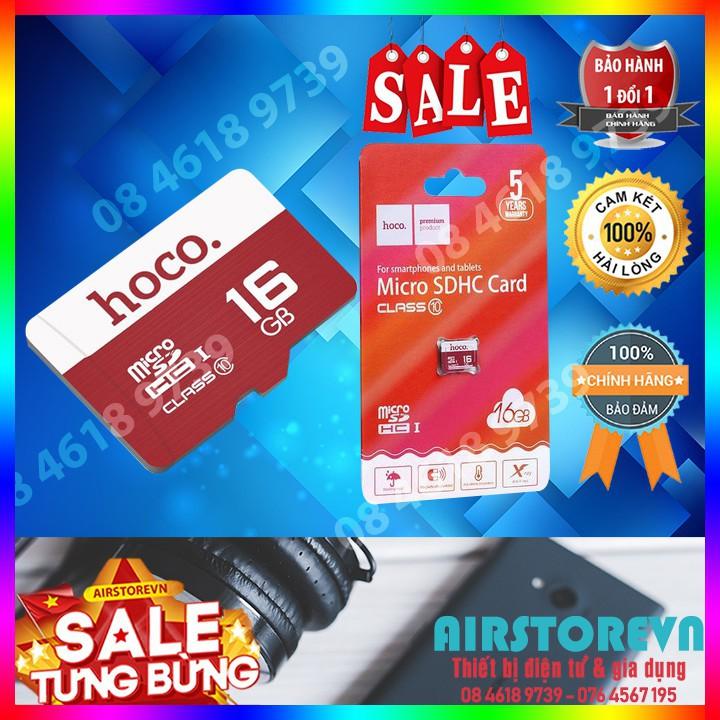 Thẻ nhớ MicroSD 16GB Class 10 Hoco chính hãng - Màu bất kì- Siêu bảo hành 1