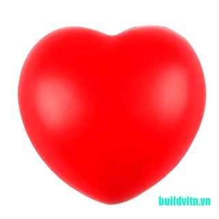 (DO-dmc)Heart Shaped Stress Relief Squeeze Soft Foam Ball Hand Wrist Exercise Baby Ball