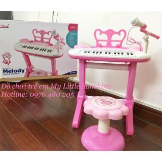 Đàn piano có micro cho bé M02 pink