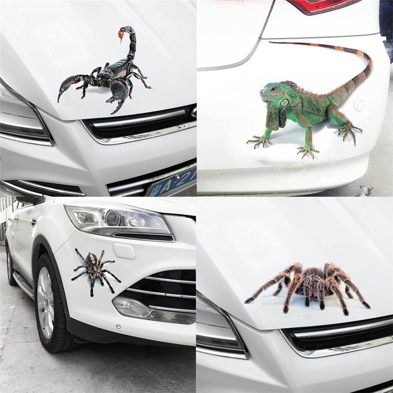 Decal dán trang trí hình cung bọ cạp 3D cho xe hơi / xe tải