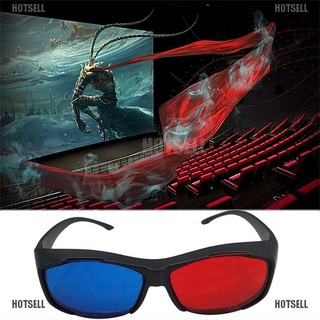 [HOTSELL] Red Blue 3D Glasses Black Frame For Dimensional Anaglyph TV Movie DVD Game