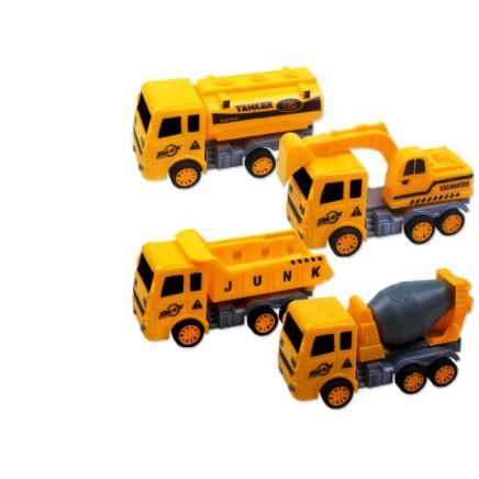 Đồ chơi Bộ 4 xe công trình xây dựng, Xe mô hình bộ 4 xe xây dựng MH32681
