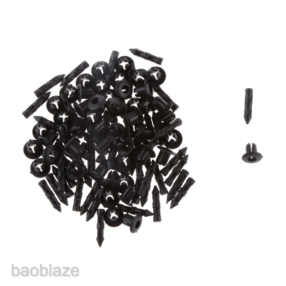 50pcs 6mm Push Type Rivets Fastener Retainer Clips for Yamaha 90269-06001