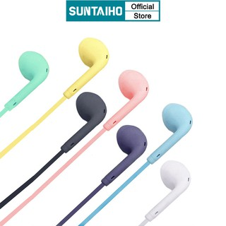 Tai Nghe SUNTAIHO Màu Macaron Sử Dụng Cho for OPPO  Android & Ios iPhone Chất Lượng Cao