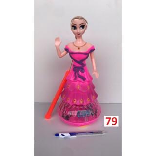 Đèn trung thu Công chúa Elsa váy hồng