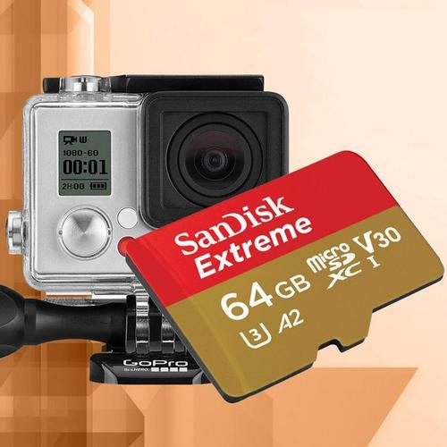 [Mã ELFLASH5 giảm 20K đơn 50K] Thẻ Nhớ MicroSDXC SanDisk Extreme V30 U3 4K A2 64GB 160MB/s - Tốc độ cao