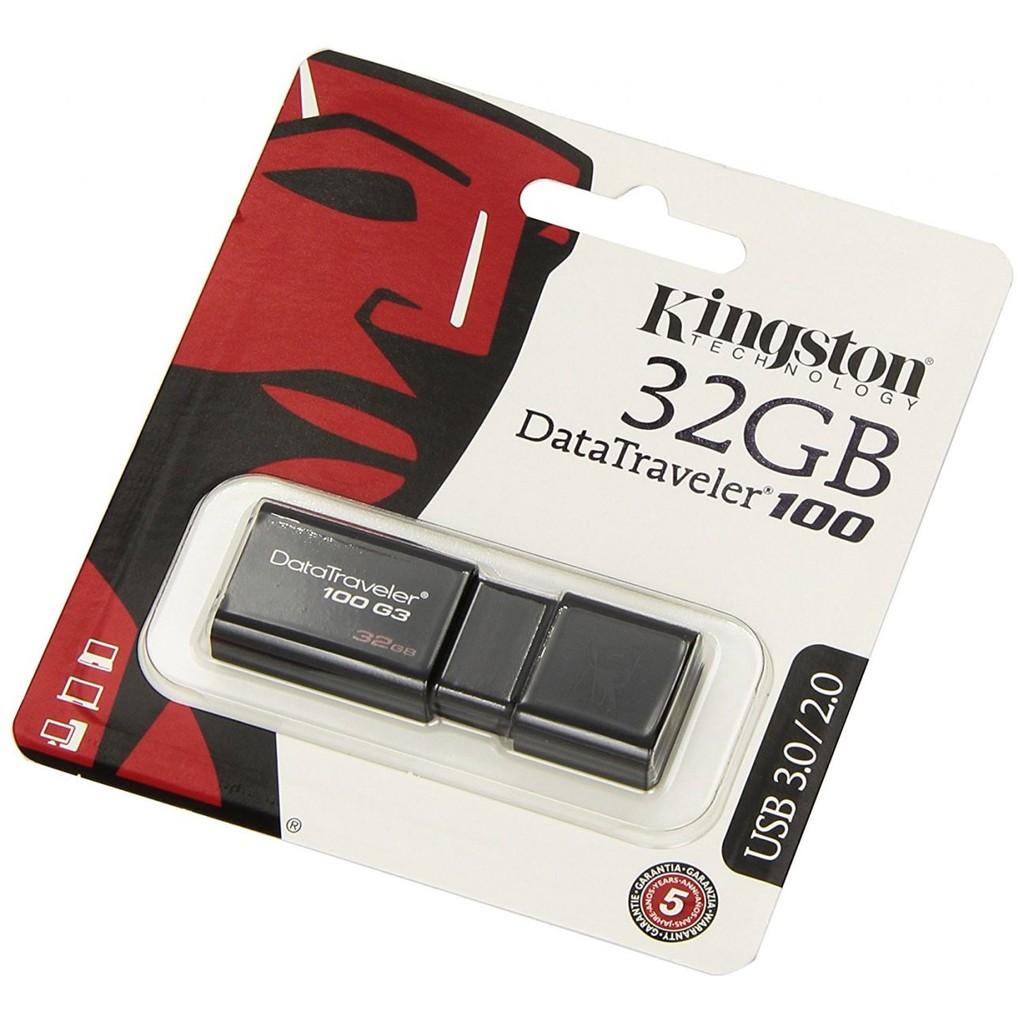 USB Kingston DT100G3 32GB - USB 3.0 ( Đen )