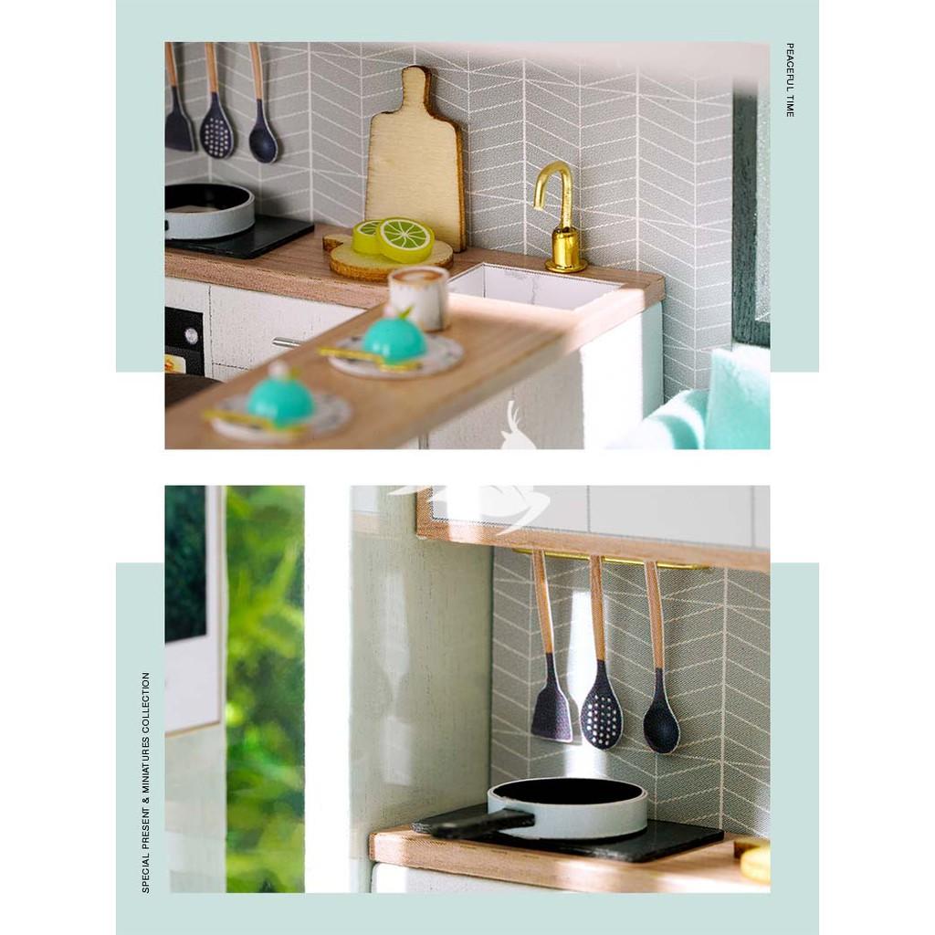 DIY - Nhà búp bê tự lắp ráp - Tặng Dụng cụ và keo dán