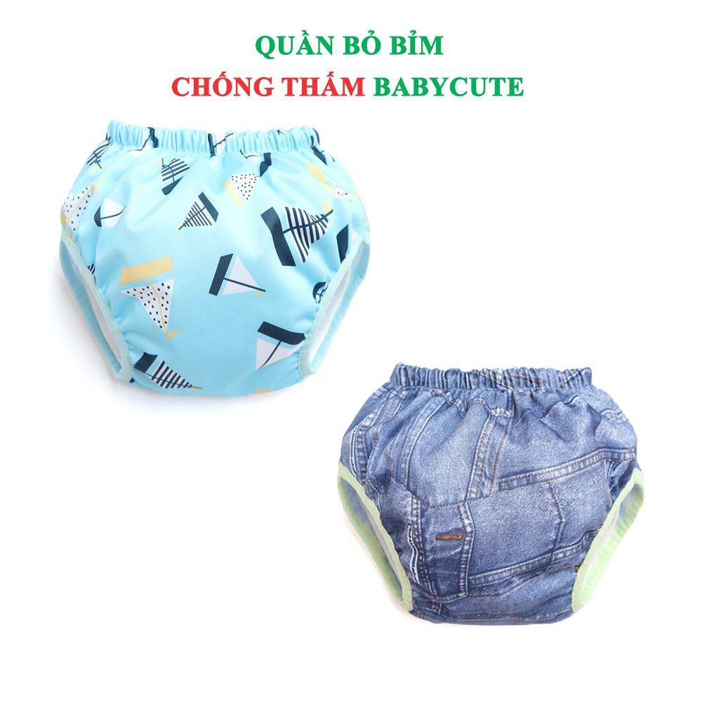 Combo 2 Quần bỏ bỉm chống thấm BabyCute size XXL (40-60kg) - Giao mẫu ngẫu