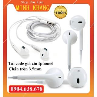 [Hàng Hot] Tai Nghe Code Giả Zin Dành Cho Iphone Chân Tròn 3.5mm - Chất Âm Như Tai Zin - Bảo Hành Đổi Mới