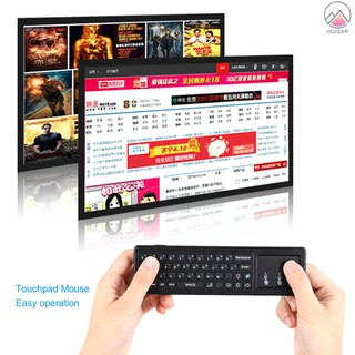 Mini 2.4GHz Wireless QWERTY Keyboard Air Mouse Touchpad Handheld Remote Control 6 Gxes Gyroscope for