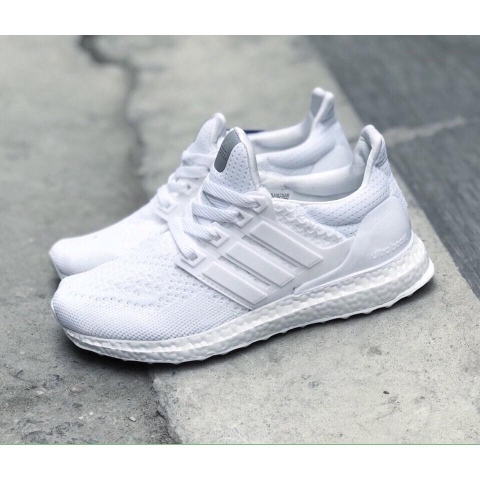 [FREE SHIP] Giày Adidas UltraBoost màu trắng full