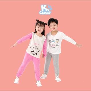 Bộ Quần Áo Cotton Dài Tay Cho Bé Trai và Bé Gái (1-9 Tuổi) K's Closet E034TEF / E036TEF / E043TEF TM