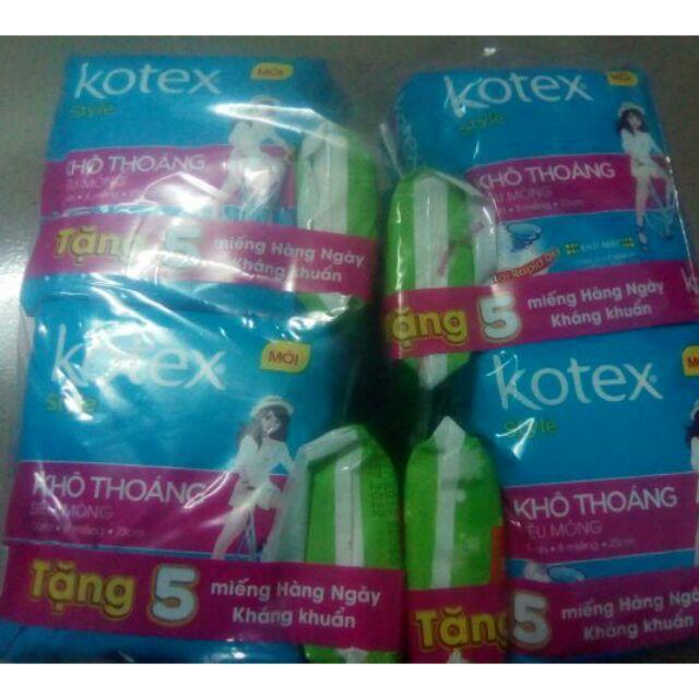 Lốc 8 gói Băng vệ sinh Kotex Style mới khô thoáng siêu mỏng cánh (gói 8 miếng)