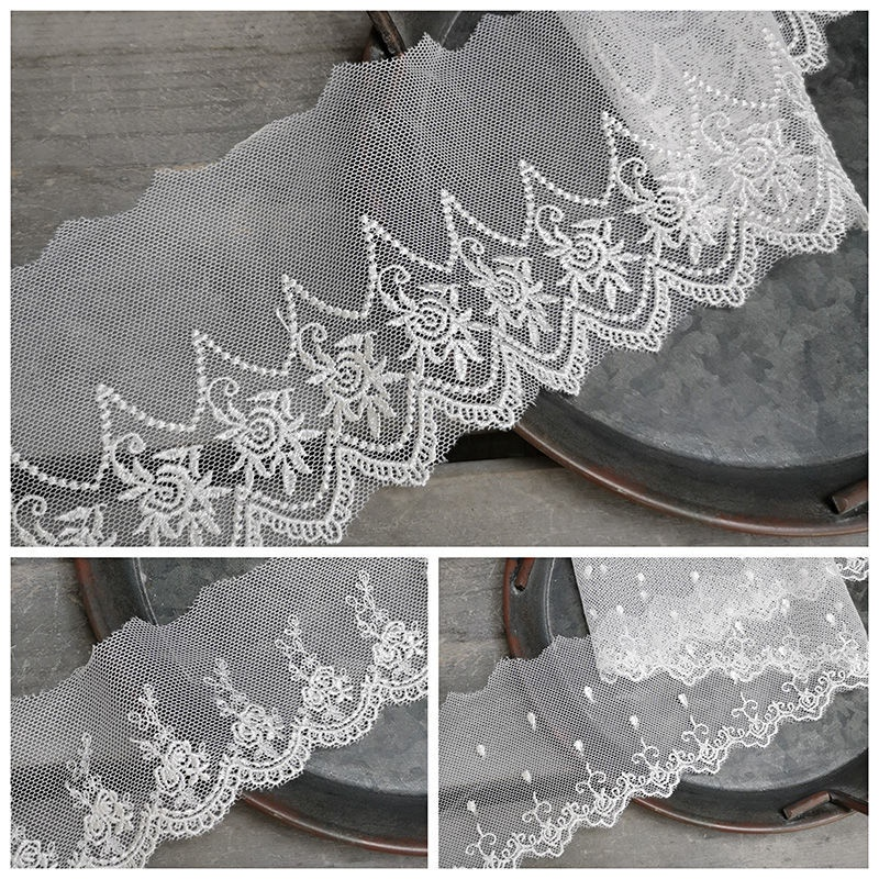 Hand-MadediyClothing Baby Clothing Accessories Beige Mesh Embroidered Lace Top Bottom Bag Lolita