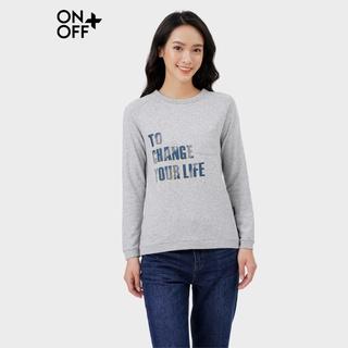 Áo thun dài tay nữ ONOFF cổ tròn chất cotton kết hợp polyester cao cấp - H16TL20017 thumbnail
