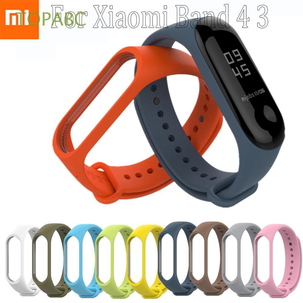 Dây Đeo Thay Thế Chất Liệu Silicon Màu Trơn Cho Xiaomi Mi Band 4 3