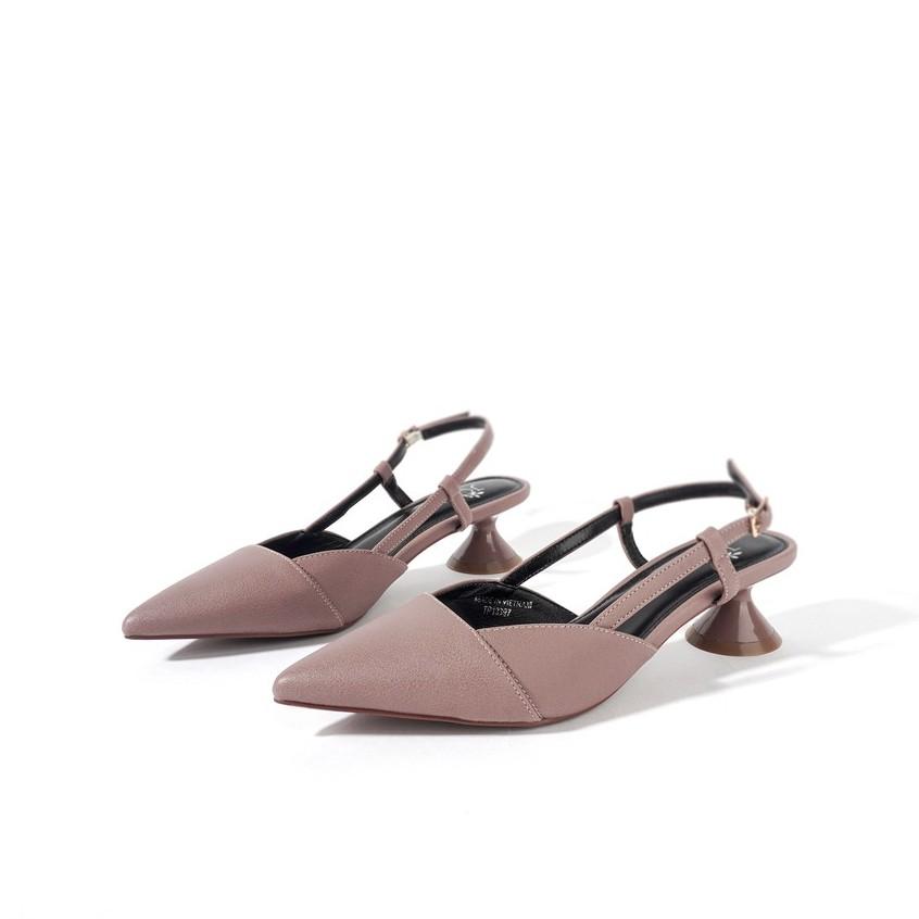 JOTI Giày Cao Gót Nữ Cherisa 3262VN4 2020 - Màu Tím Tây Mũi Nhọn Vát Vuông Đế Trụ Nón 4cm - Mang Công Sở Đi Làm Dự T