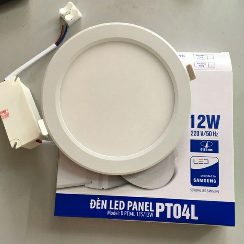 Đèn âm trần siêu mỏng panel 12W phi 135 RĐ