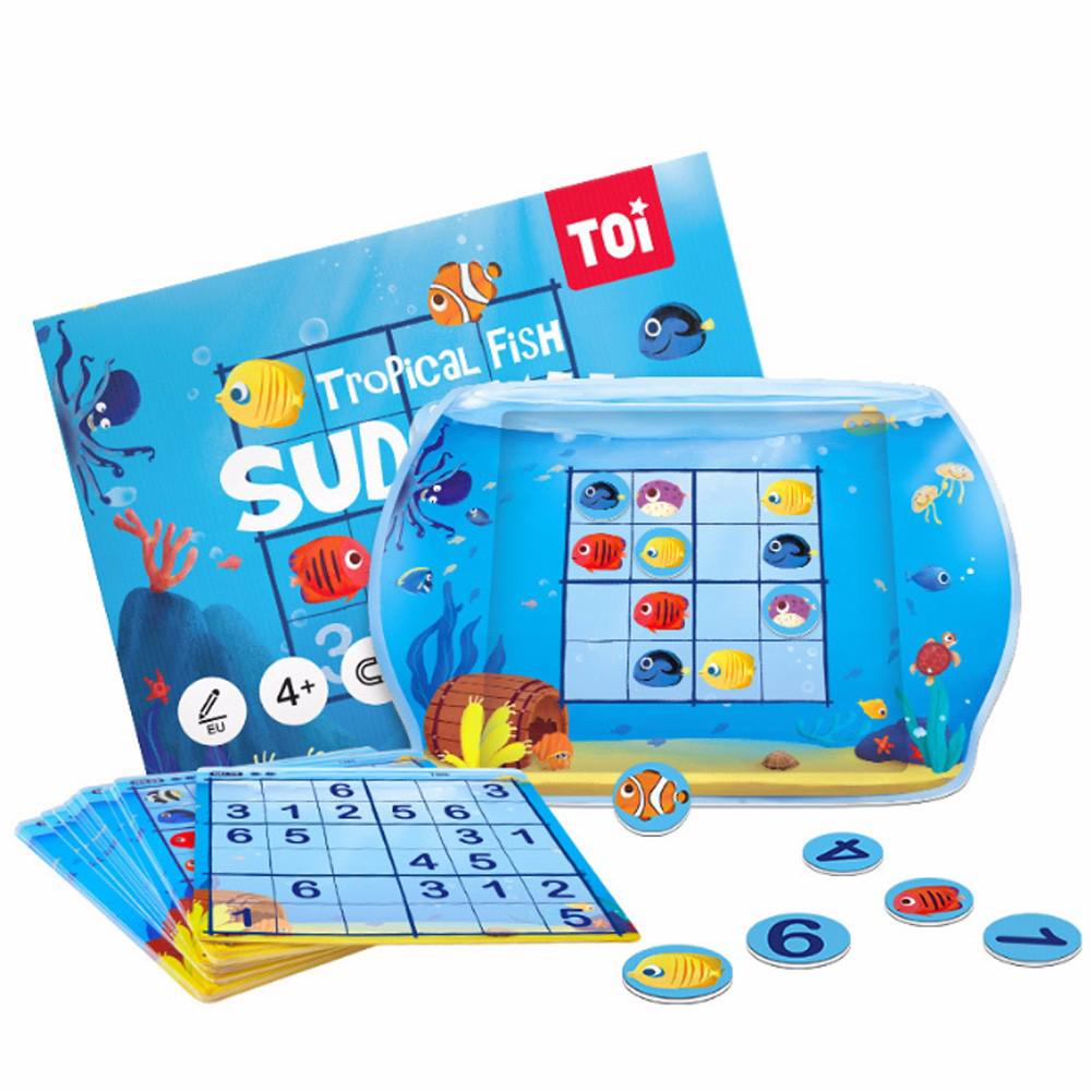 Baby's Magnetic Tropical Fish Sudoku Toys Children Logic Thinking Puzzle Fun Board Game Kids Gift