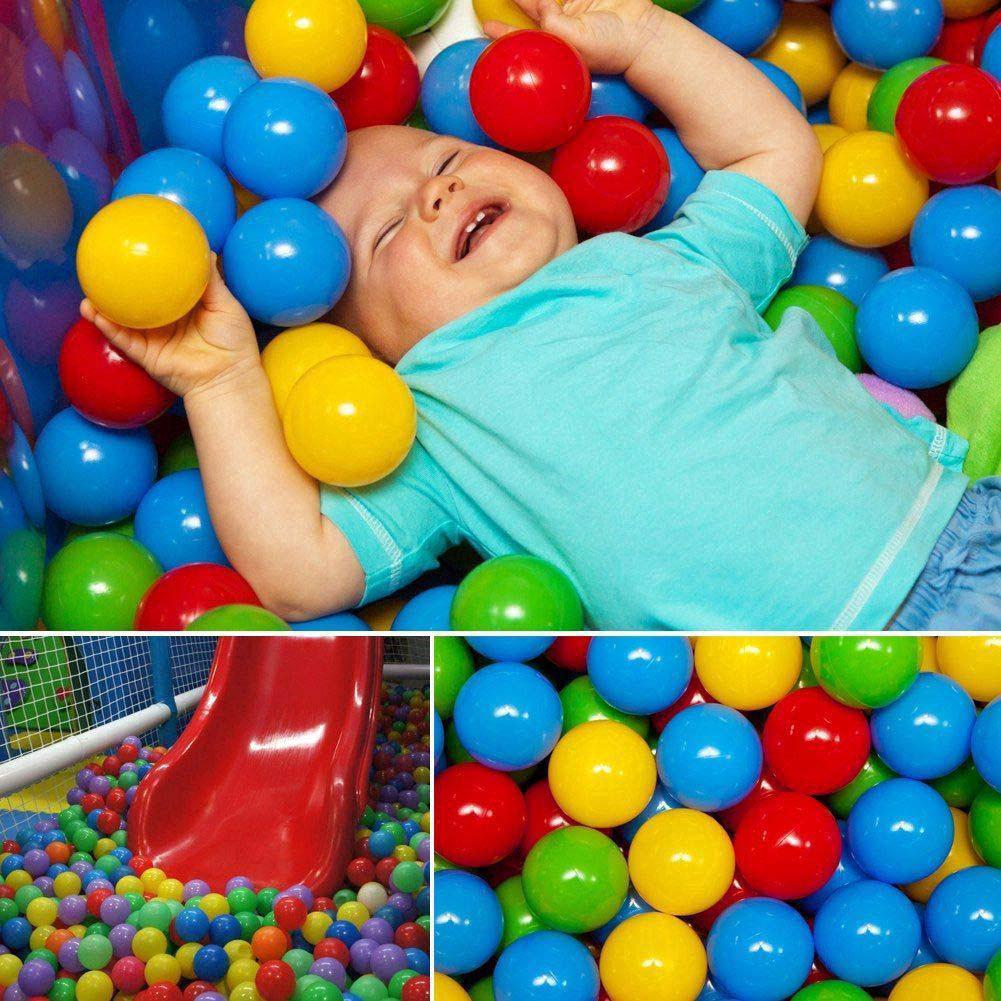 50pc Kids Baby Colorful Soft Play Balls Toy for Ball Pit Swim Pit Ball Pool