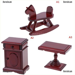 MT Dollhouse Miniature Wooden Room Furniture 1:12 Accessories Toys for Children NY