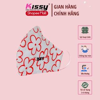Khẩu trang Kissy cho nữ size M mẫu hoa chống bụi mụi, giao đúng mẫu thumbnail