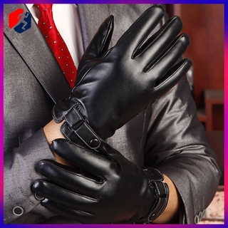 Men Women Winter Gloves Touch Screen Windproof Waterproof Leather Thick Snow USA Ⓦ
