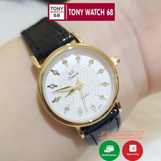 Đồng hồ nữ QB dây da mặt nhỏ 28mm chính hãng chống nước giá rẻ thumbnail