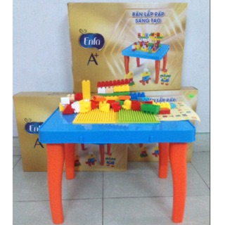 Bàn lego lắp ráp sáng tạo 55 chi tiết