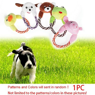 Cute Interactive Pet Puppy Animal Shape Chew Play Sound Squeaker Dog Plush Toy
