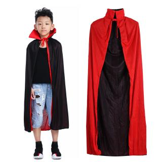 【READY STOCK】Halloween Costume kids Red Black Cape With Double Stand-up Collar