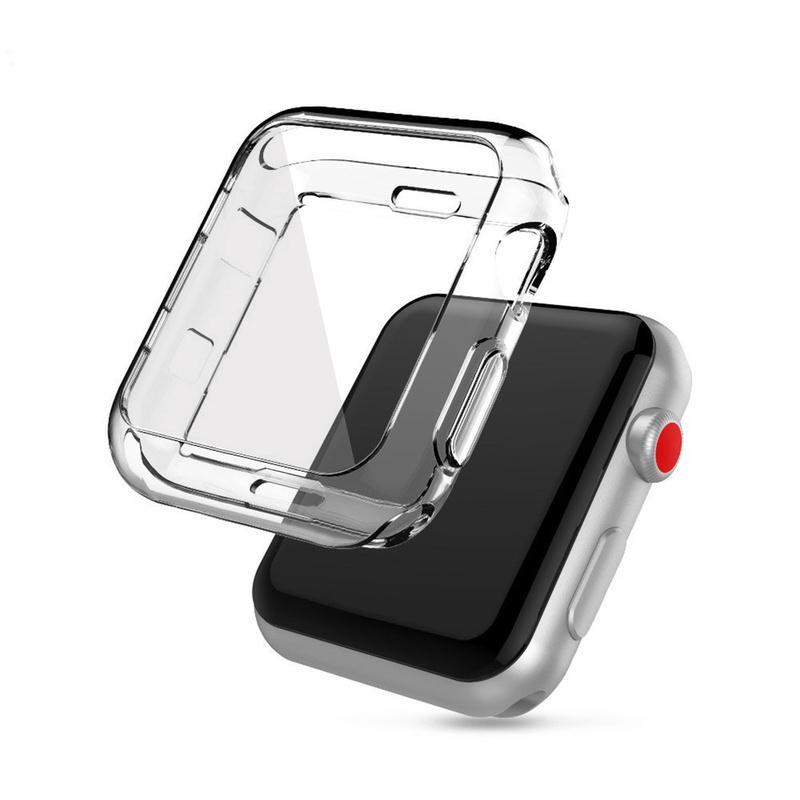 Ốp bọc đồng hồ bằng TPU trong suốt bảo vệ Apple Iwatch 2/3/4 Series 38MM/40MM/42MM/44MM