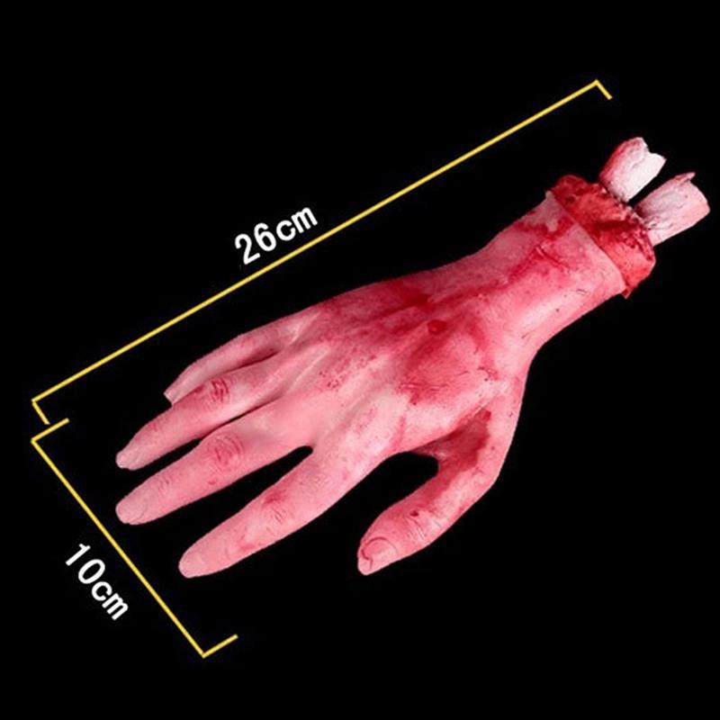 Severed Bloody Body Hand Halloween Parts Scary Decoration New Horrorschocker
