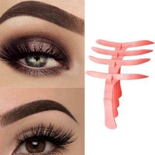 4Pcs set DIY Reusable Eyebrow Template Semi Permanent Stencil Ruler Makeup Eyebrow Tattoo Position Balance Stencil Tools-2
