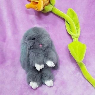 Gấu bông móc khoá thỏ lông siêu mượt