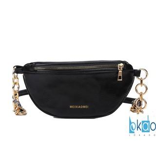 Túi xách nữ LOKADO dáng túi bao tử nữ da mềm dây xích đeo bụng kẹp vai cực chất - HY165